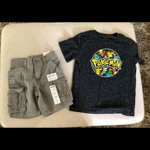Sonoma/Pokémon shorts and tee outfit, boy's size 5